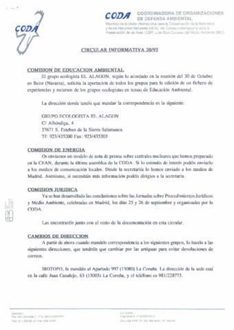 Circular Informativa 20 Archivo Histórico Ecologistas En