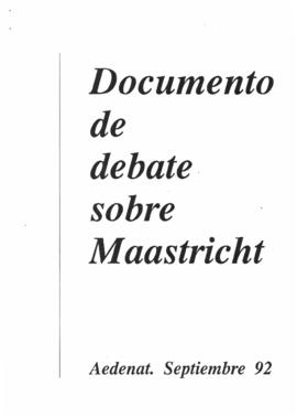 Documento de debate sobre Maastrich